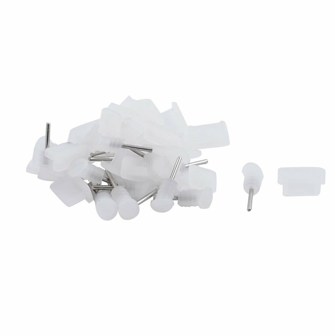 Silicone Earphone Dock Port Anti Dust Stopper Cap Clear 20 Set for Type C Phone