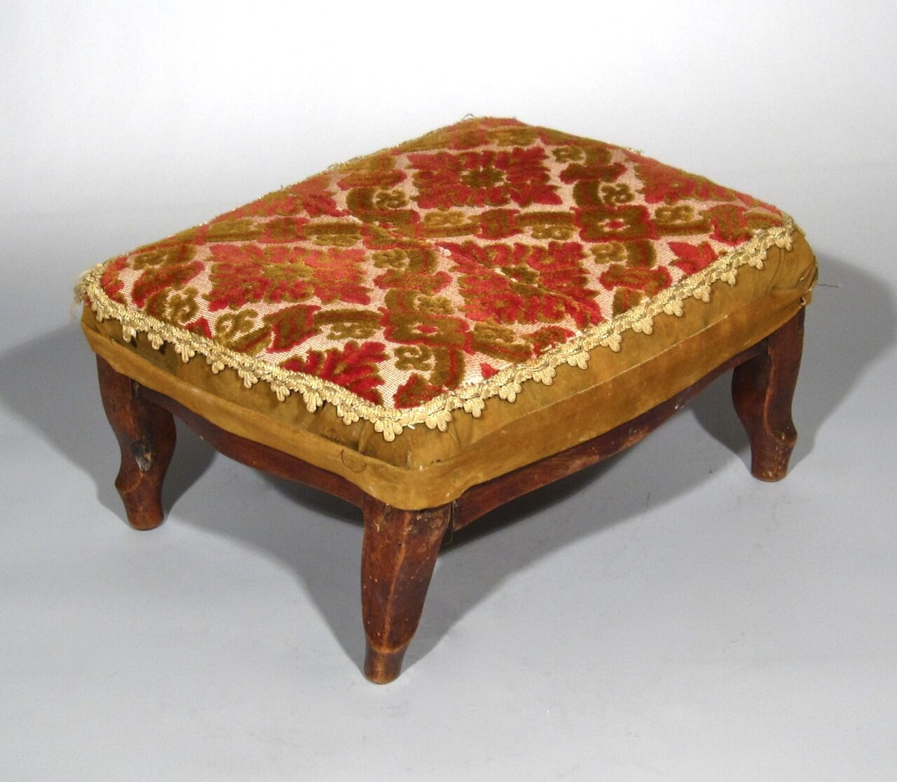 Antique French Country Footstool Louis XV Style
