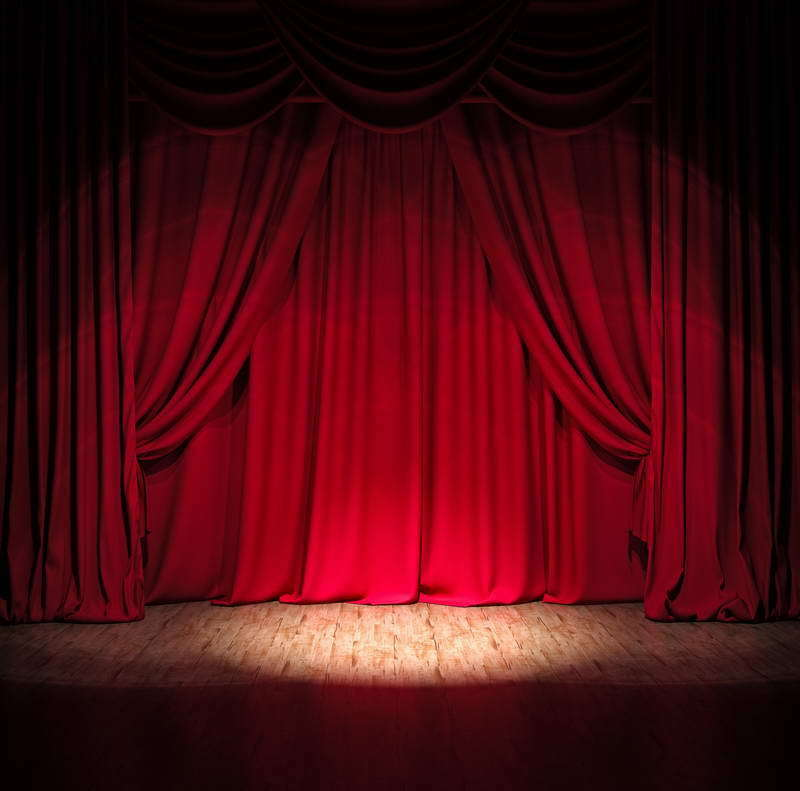 STAGE BACKDROP SHOW Photo Background Red Curtain Studio Prop Perform ...