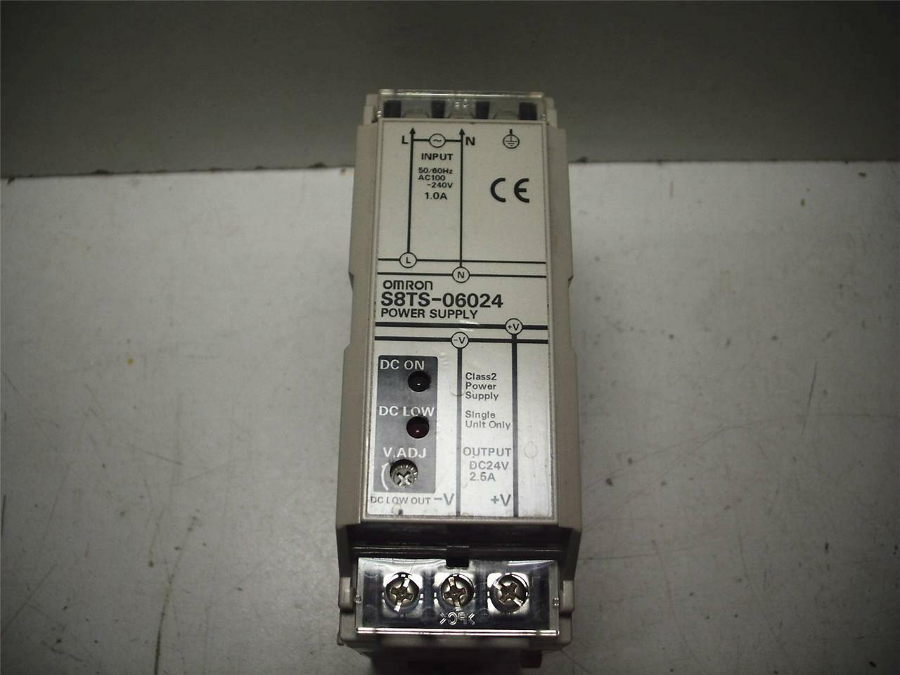Omron S8ts 06024 Switching Power Supply 24vdc 25a Tested 3a Regulator 5v 10a 50w Offline 1 Of 3only Available See More