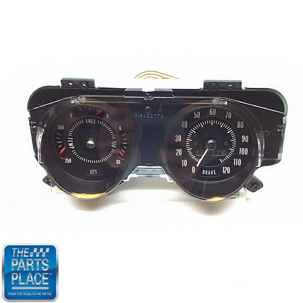 1969 72 Gto Lemans Dash Gauge Cluster Fuel Oil Speed Face