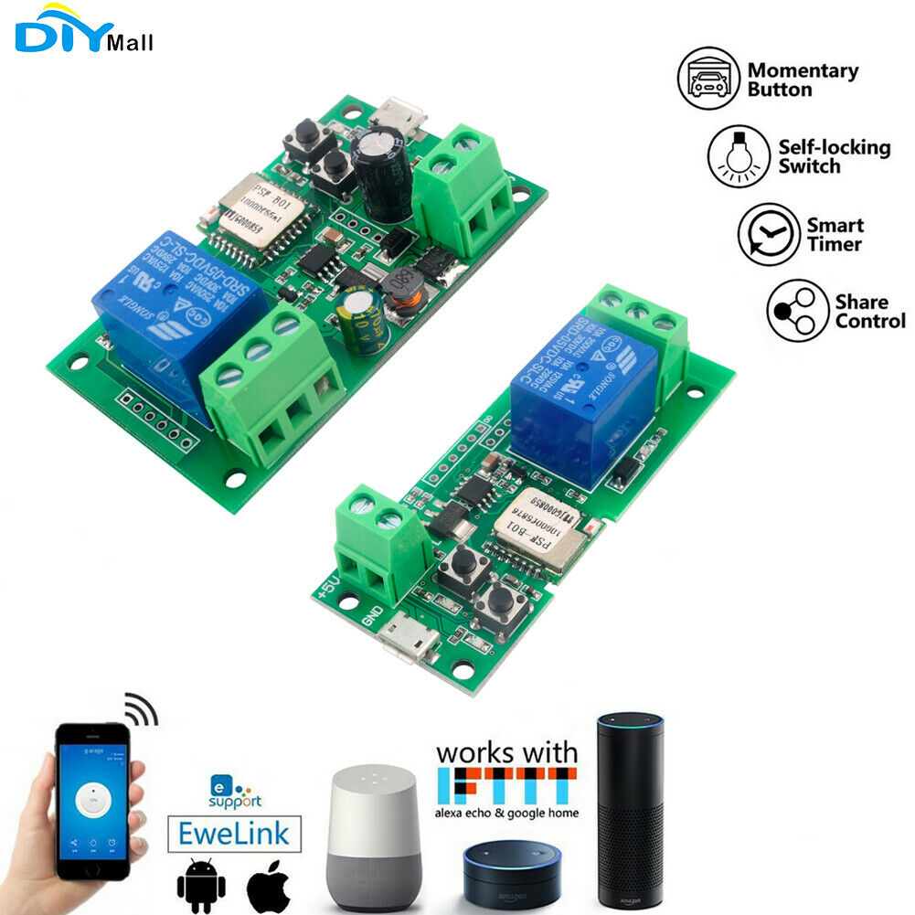 Sonoff Wifi Wireless Smart Switch Psf 5v 12v Inching Self Lock App Ewelink 1 Of 3 See More
