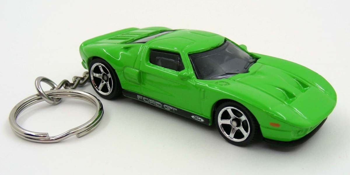 Custom Keychain Ford Gt  Green And Black Key Chain Ring Fob