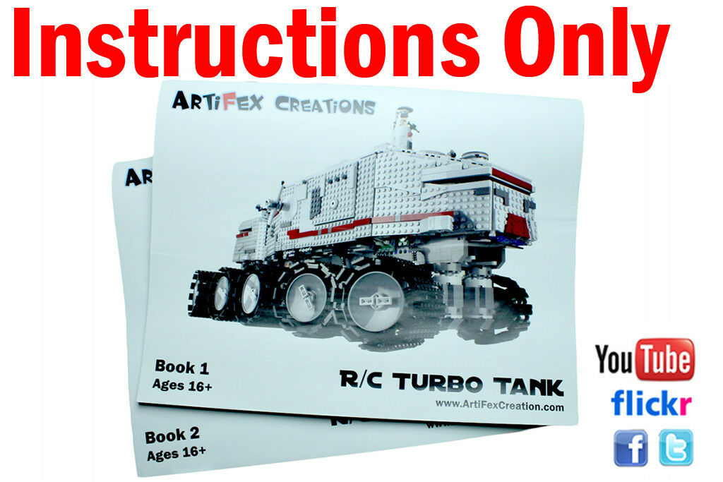 Instruction Custom Lego Star Wars Rc Turbo Tank Ucs 8098 10188 10179