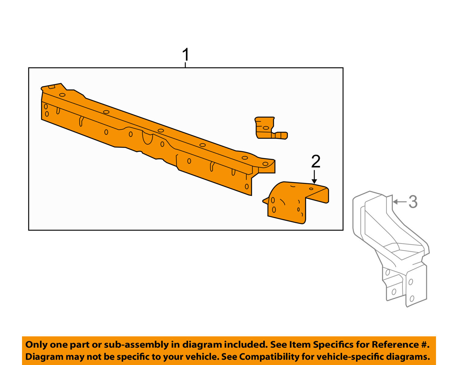 Chevrolet Gm Oem 13 16 Malibu Radiator Core Support Upper Tie Bar Chevy Torsion Diagram 23225183 1 Of 2only Available