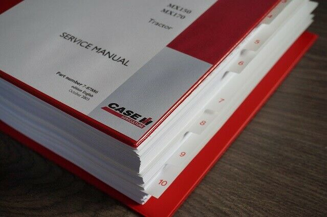 Case MX150 MX170 tractor workshop service repair manual book 1 of 1Only 2  available ...