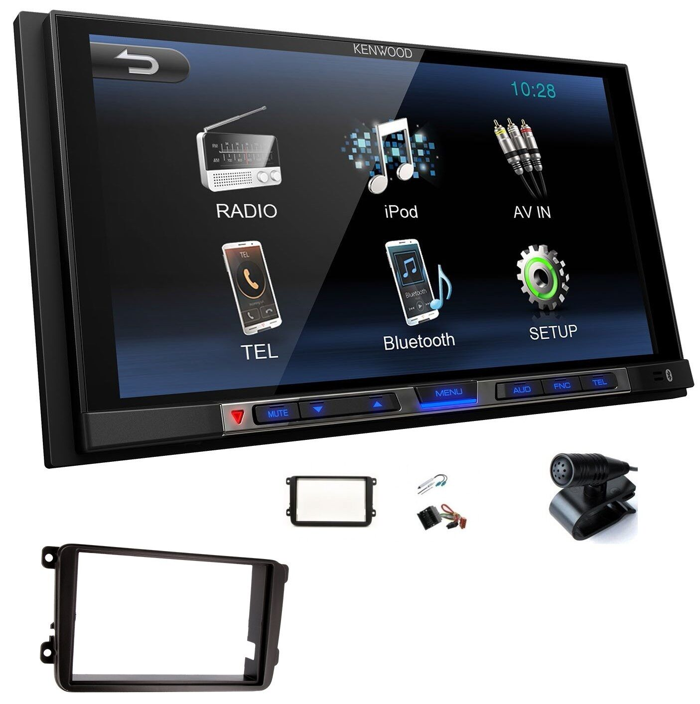 kenwood dmx100bt 2din autoradio bluetooth usb mp3 lcd 6 8. Black Bedroom Furniture Sets. Home Design Ideas