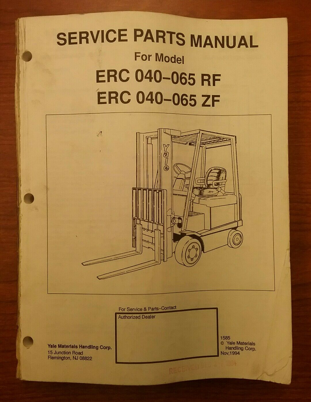 Parts Yale Diagram Fork Lift Gtp060 Explained Wiring Diagrams Glc030 Service Manual Erc 040 065 Rf Zf 1585 35 60 Picclick
