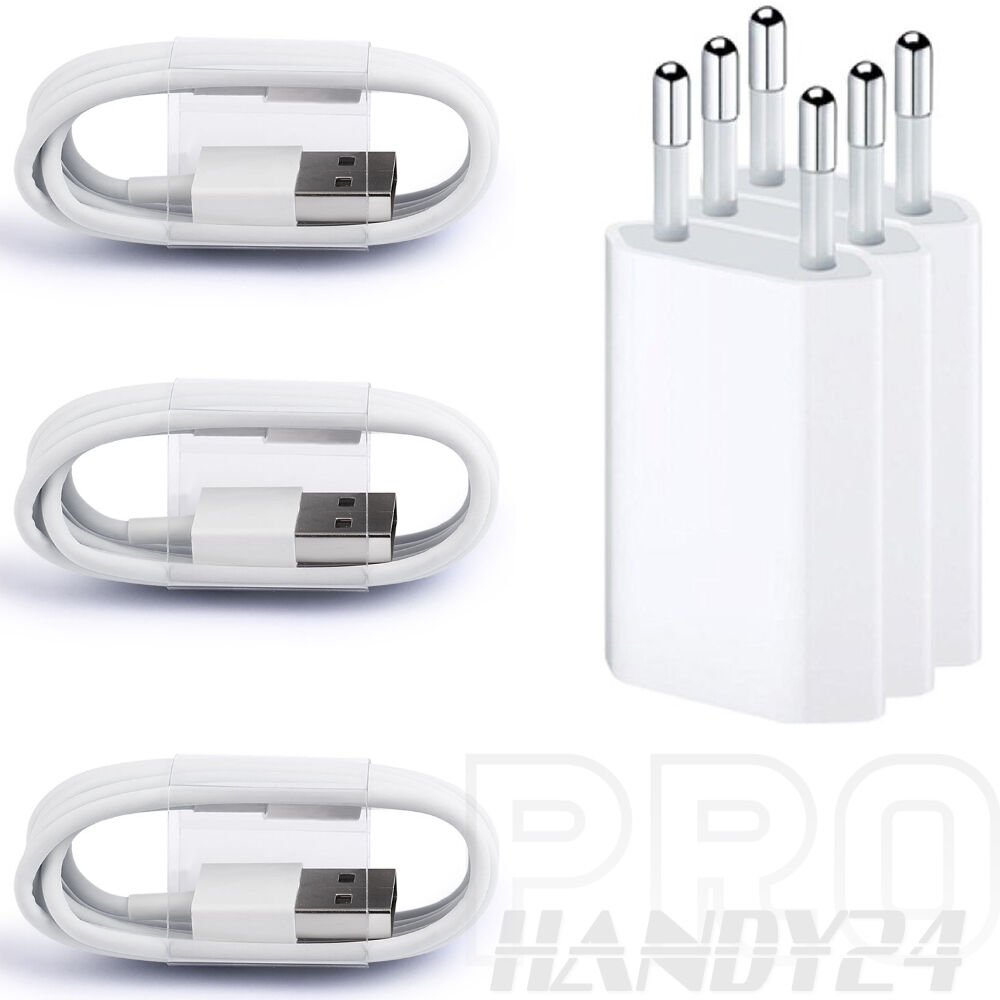3x usb ladekabel ladeger t netzteil f r original iphone 5 iphone 6s 6 iphone 7 eur 9 79. Black Bedroom Furniture Sets. Home Design Ideas