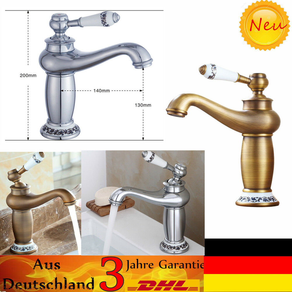 vintage retro bad waschbecken armatur wasserhahn einhebelmischer mischbatterie eur 31 09. Black Bedroom Furniture Sets. Home Design Ideas