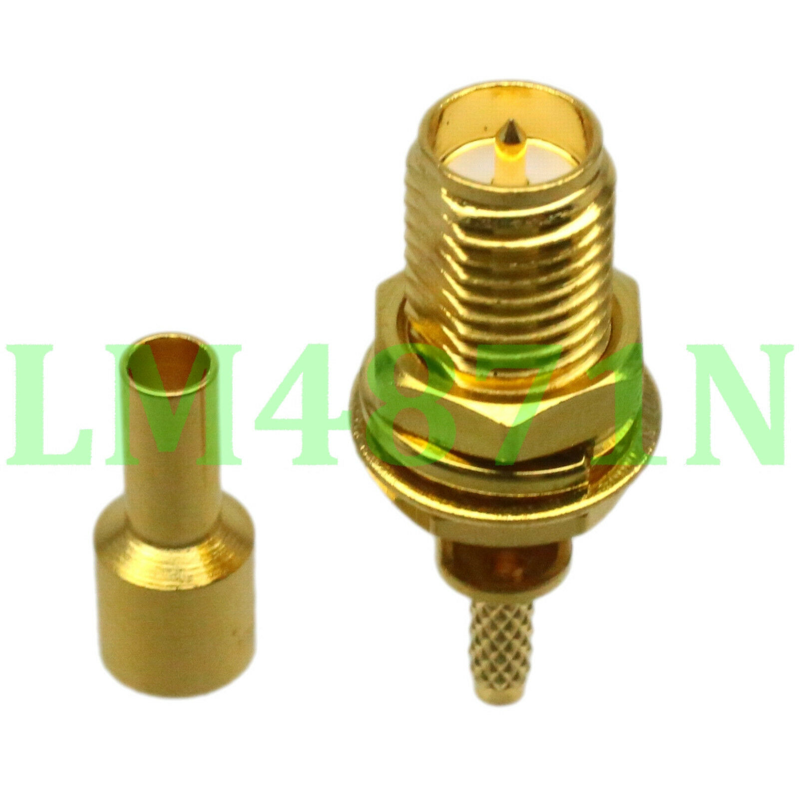 1x Connector Rpsma Female Plug Bulkhead Crimp Rg178 Rg196 Cable Kabel Pigtail Rp Sma To Ufl Coaxial Straight Window 1 Of 4 See More