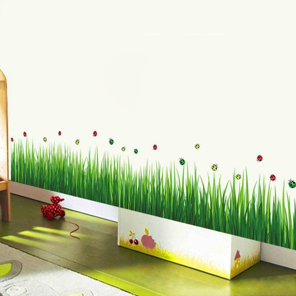 New Diy Removable Wall Stickers Home Bedroom Green Grass Vinyl Decal Art Decor Eur 3 35