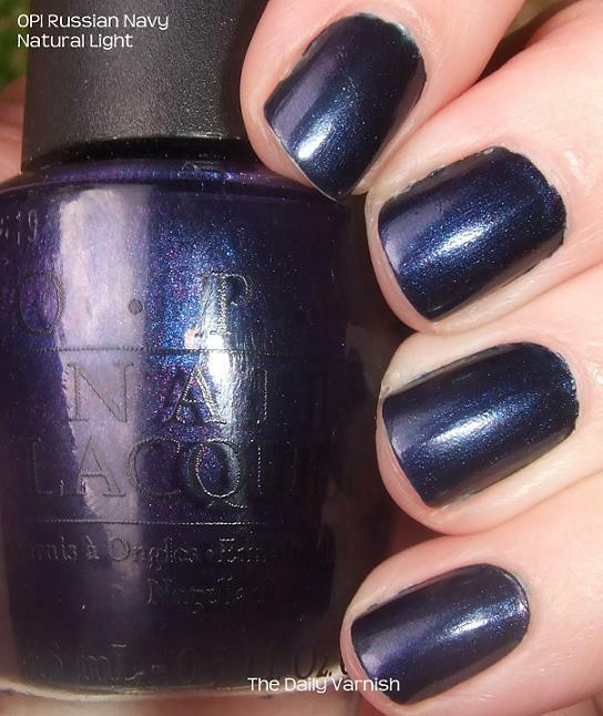 OPI PINK OF hearts nail polish lacquer in russian navy R54 - 15ml ...