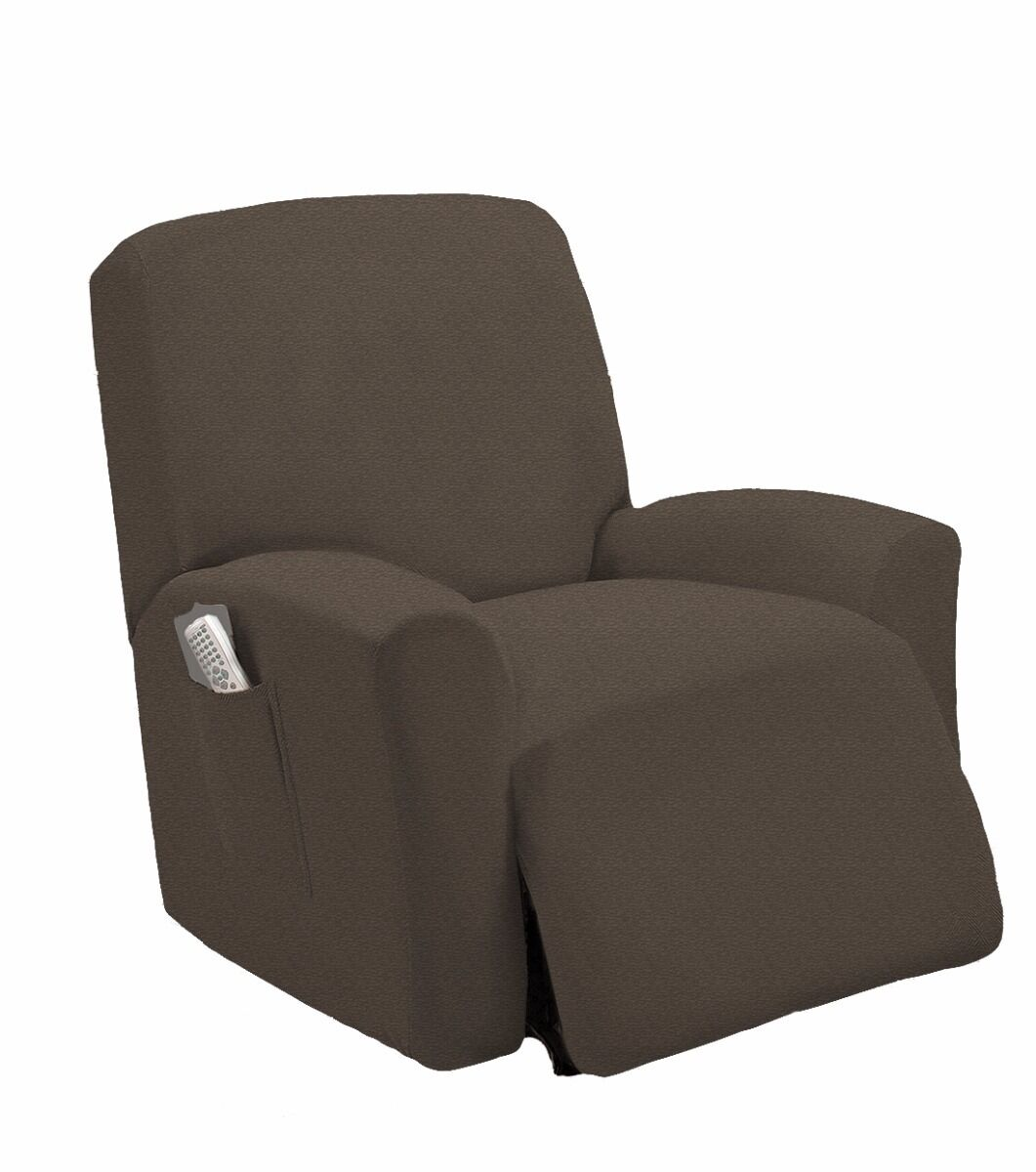 Stretch fit mocha recliner slipcover chair slip cover couch sofa cover picclick uk Slipper loveseat