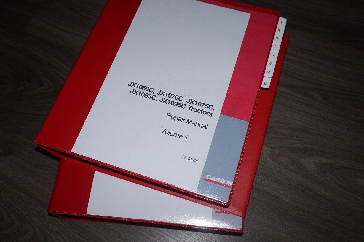 Case Tractor JXC JX1060C JX1070C JX1075C Workshop Service Repair Manual  Book 1 of 1Only 3 available ...