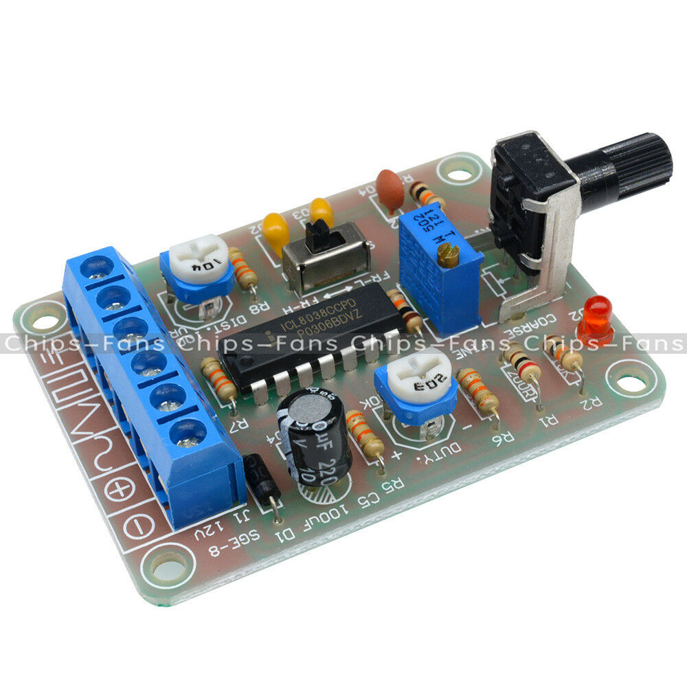 Icl8038 Monolithic Function Signal Generator Module Sine Square Audio Circuit Triangle Kits Uk 1 Of 8only 5 Available