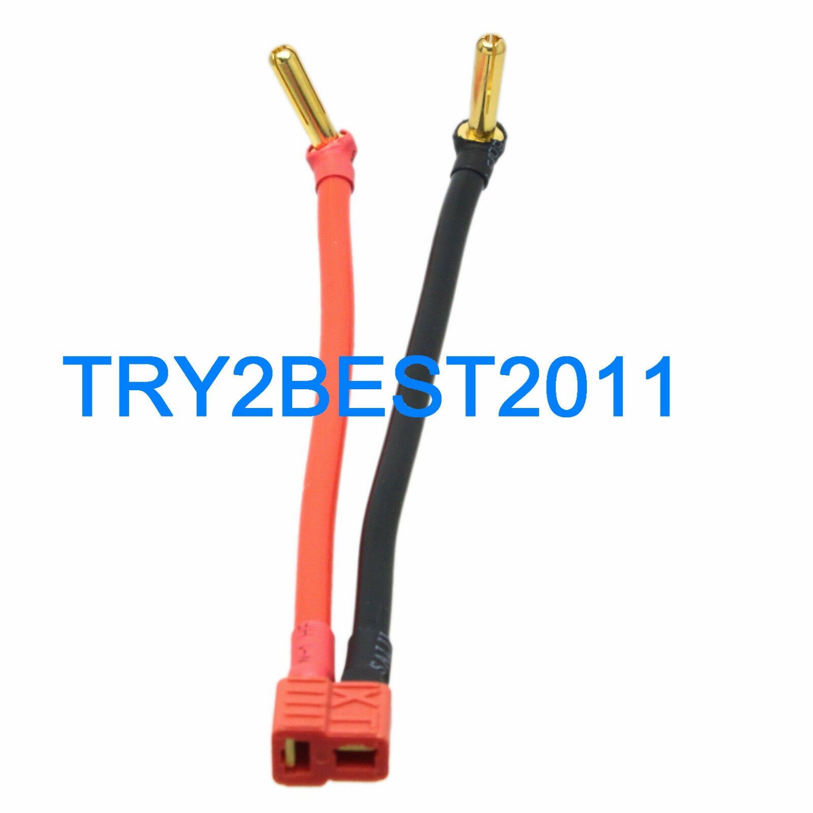 T PLUG DEANS female to 4mm Low Profile Bullet Banana Cable Wire for ...
