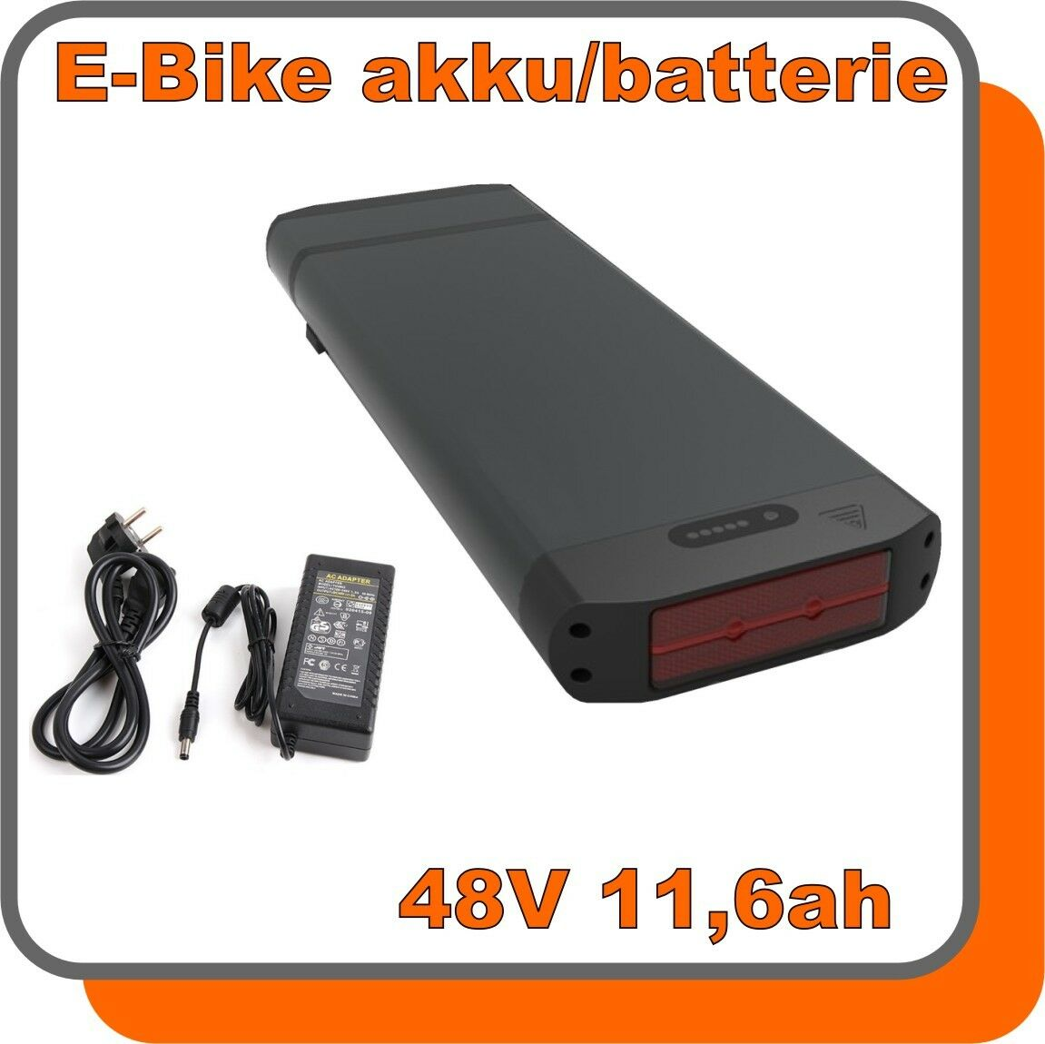 akku e bike 48v 11 6ah lithium ionen schwarz 557wh ladeger t led anzeige road eur 329 00. Black Bedroom Furniture Sets. Home Design Ideas
