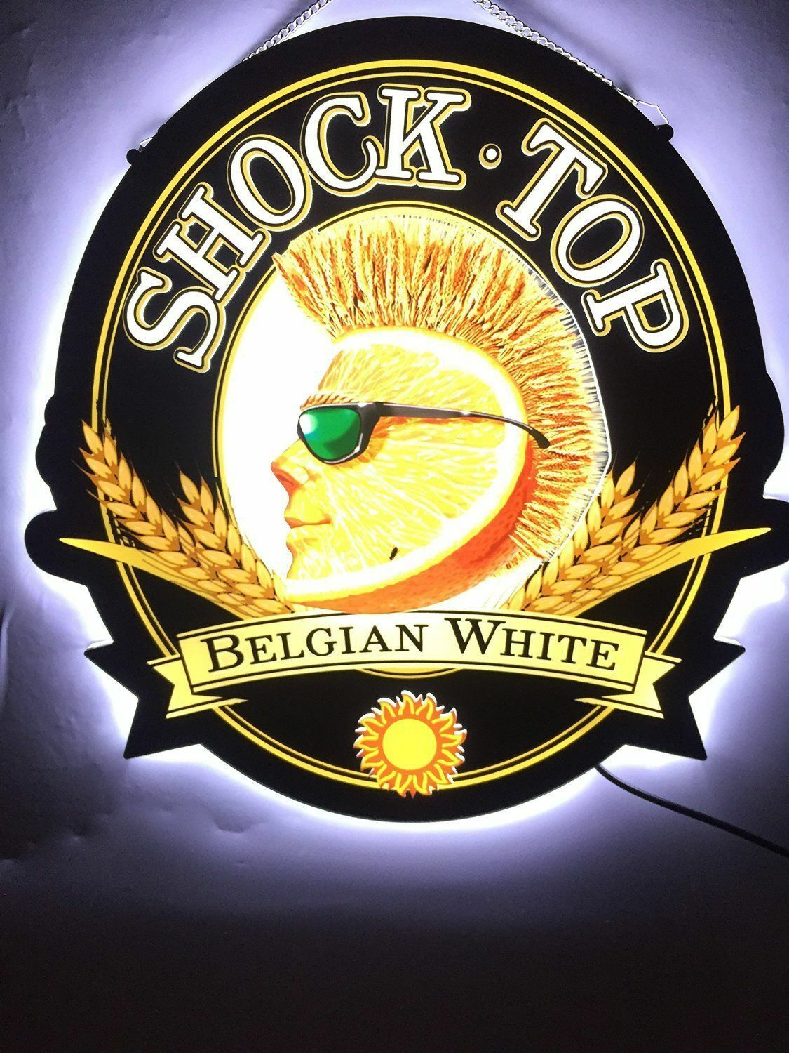 RARE NEW SHOCK Top Belgian White LED 3D Neon Sign with Back-lit 17 ...