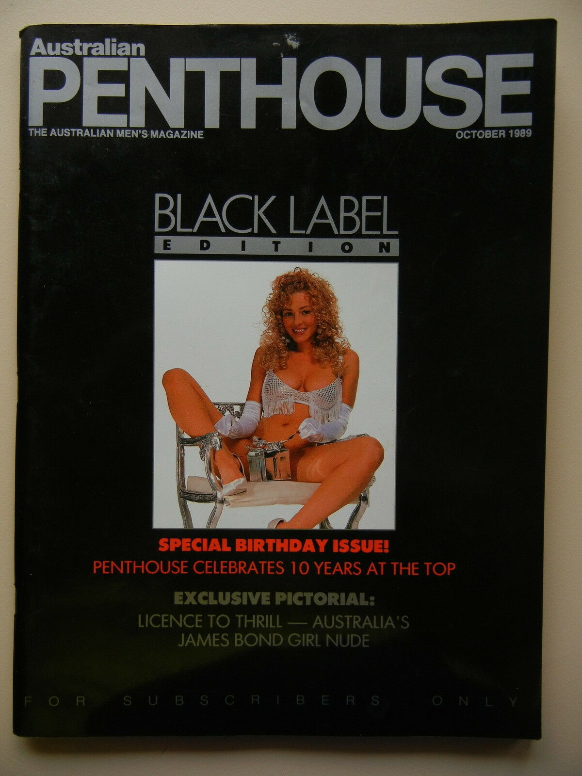 Black Label Australian Penthouse December 2011 Pet Of The Year Edition