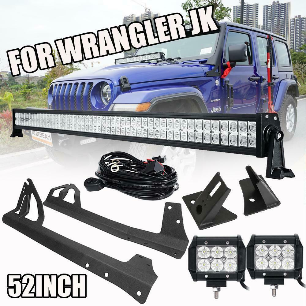 52 700w 18w Led Light Bar Mount Bracket Wire Fit For Jeep Additionally 12v Wiring On Flood Hid Work Wrangler