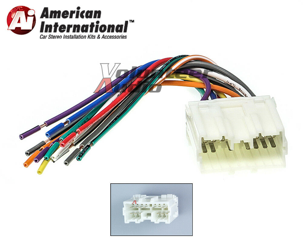 Mitsubishi Car Stereo Cd Player Wiring Harness Wire Aftermarket Complete Radio Install 1 Of 4free Shipping