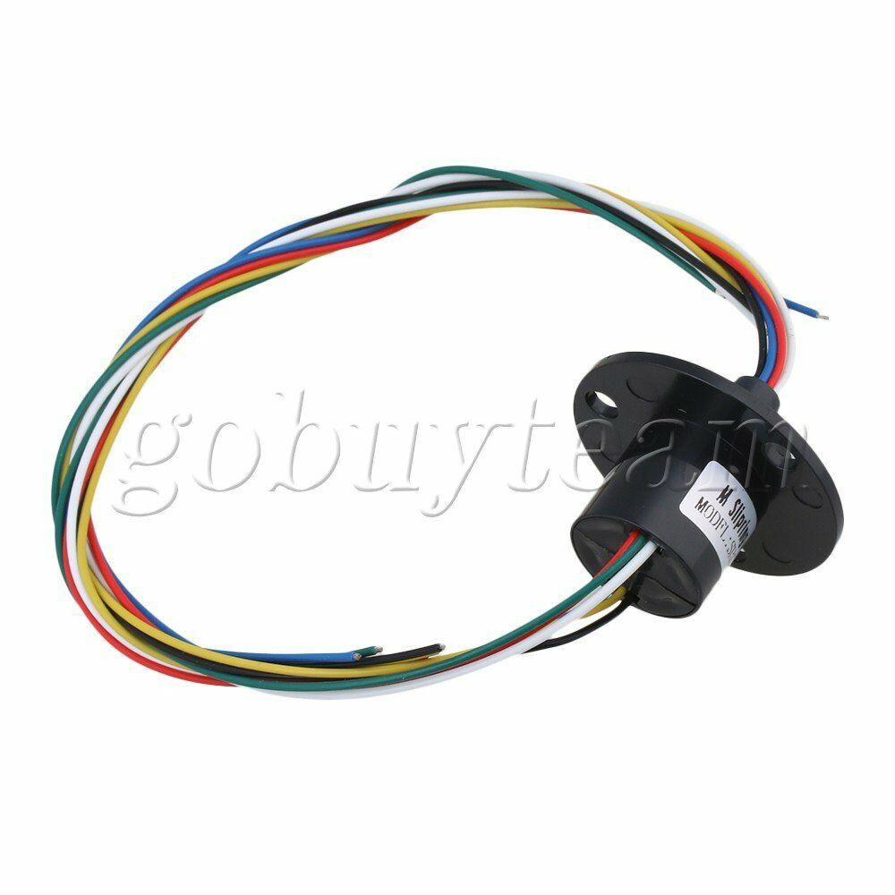 6 WIRES 5A 240VAC Capsule Slip Ring Conductive Ring for Monitor ...