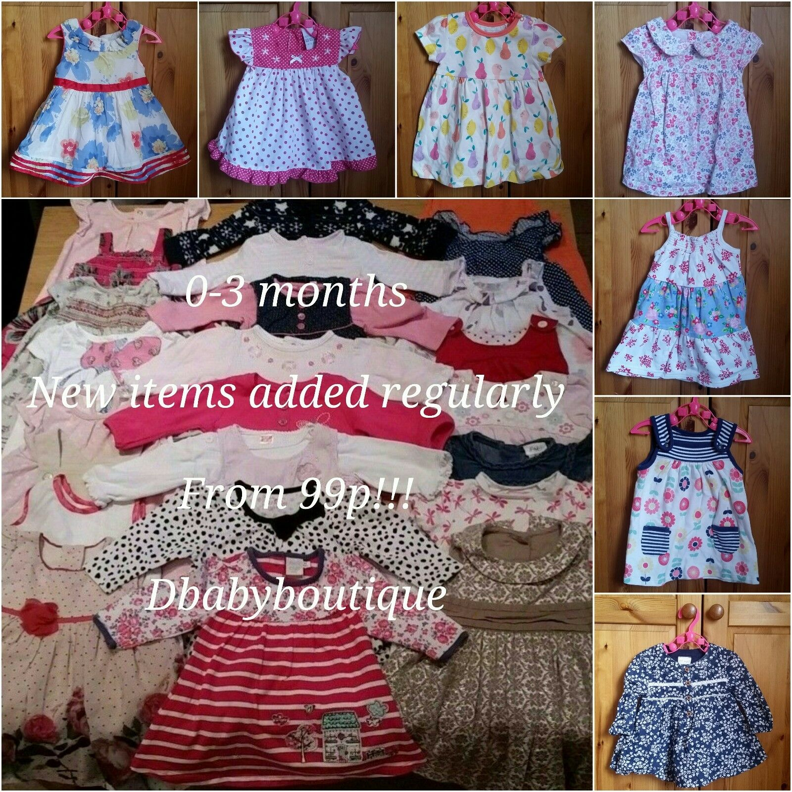 Multi listing baby girl clothes 0 3 months DRESSES make