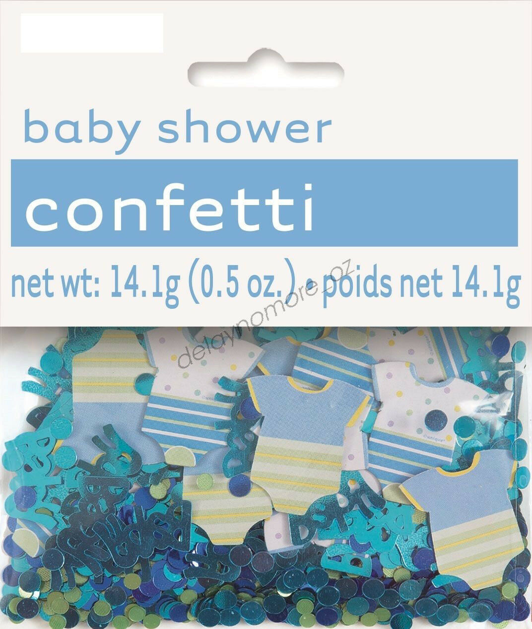 Baby boy blue baby shower foil paper table scatters for Baby confetti decoration