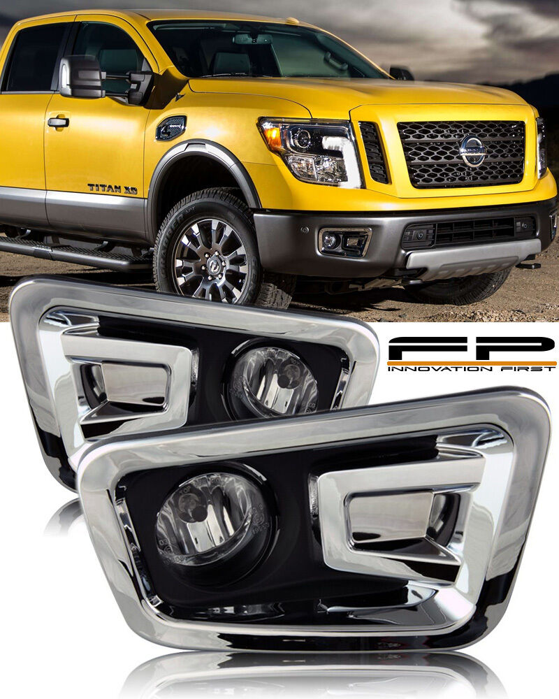 For 2016 2017 Nissan Titan Clear Lens Fog Light Full Complete Kit Winjetr Wiring N Lights Harness Switch 1 Of 4only 5 Available See More