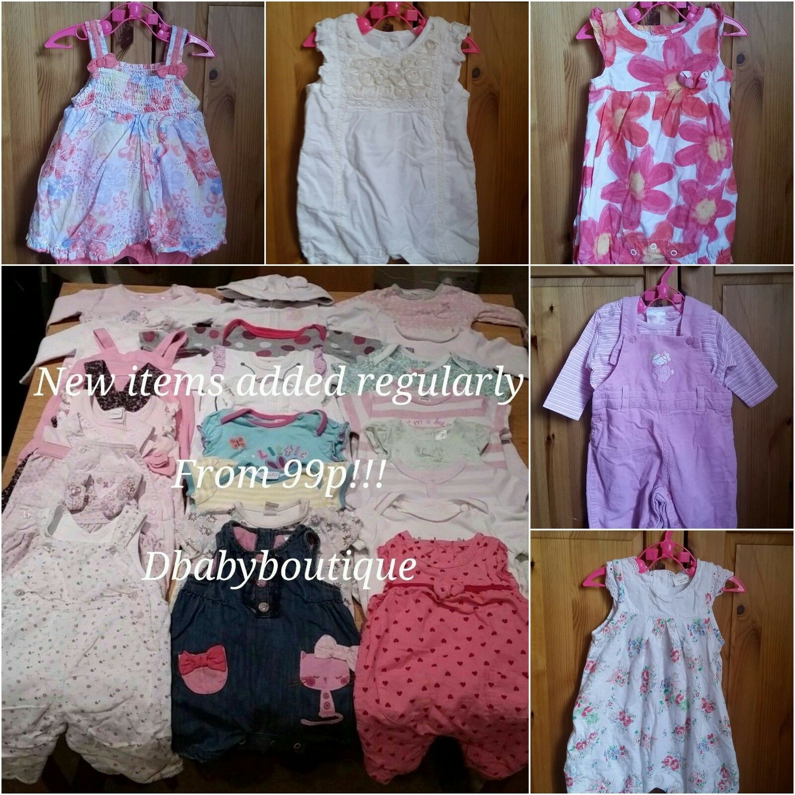 Multi listing baby girl clothes bundle 0 3months ROMPERS