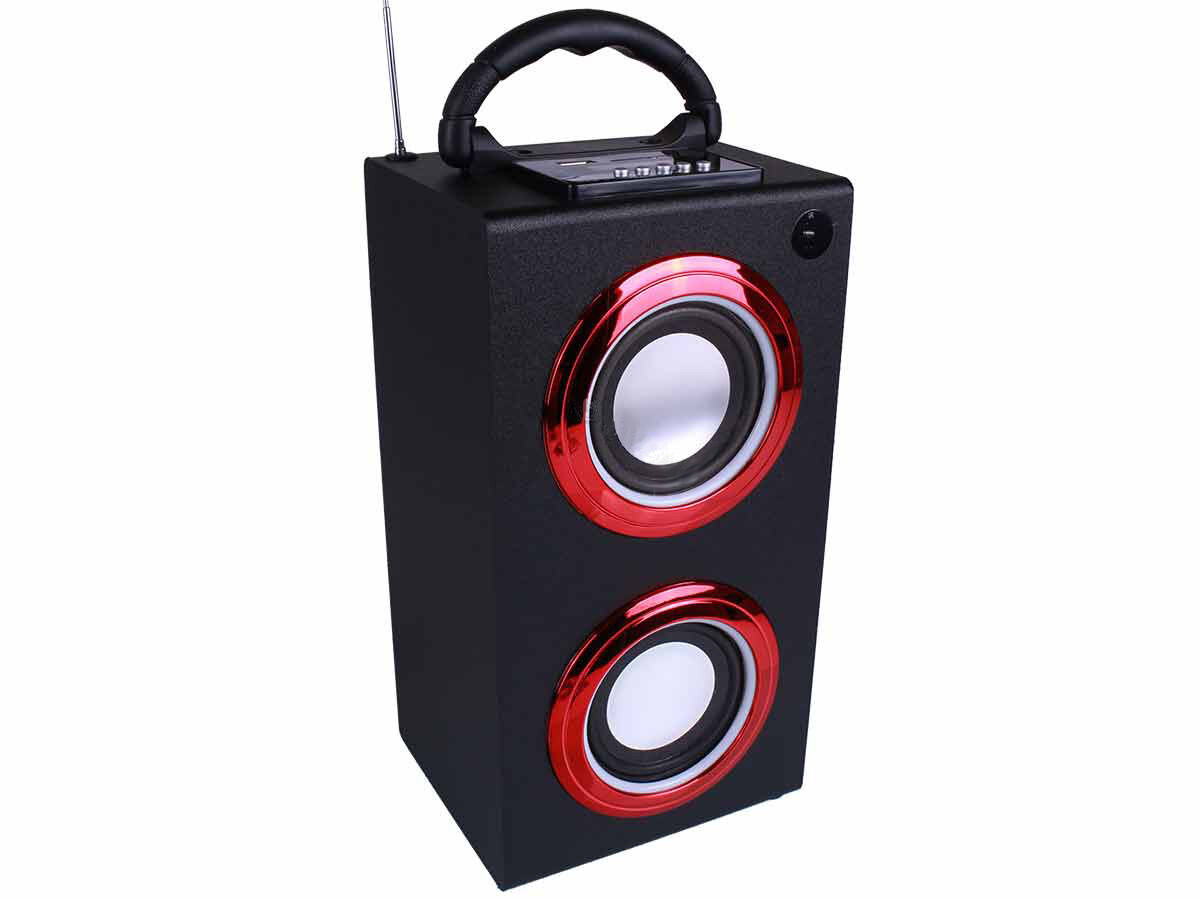 portable bluetooth speaker with led lights carry handle