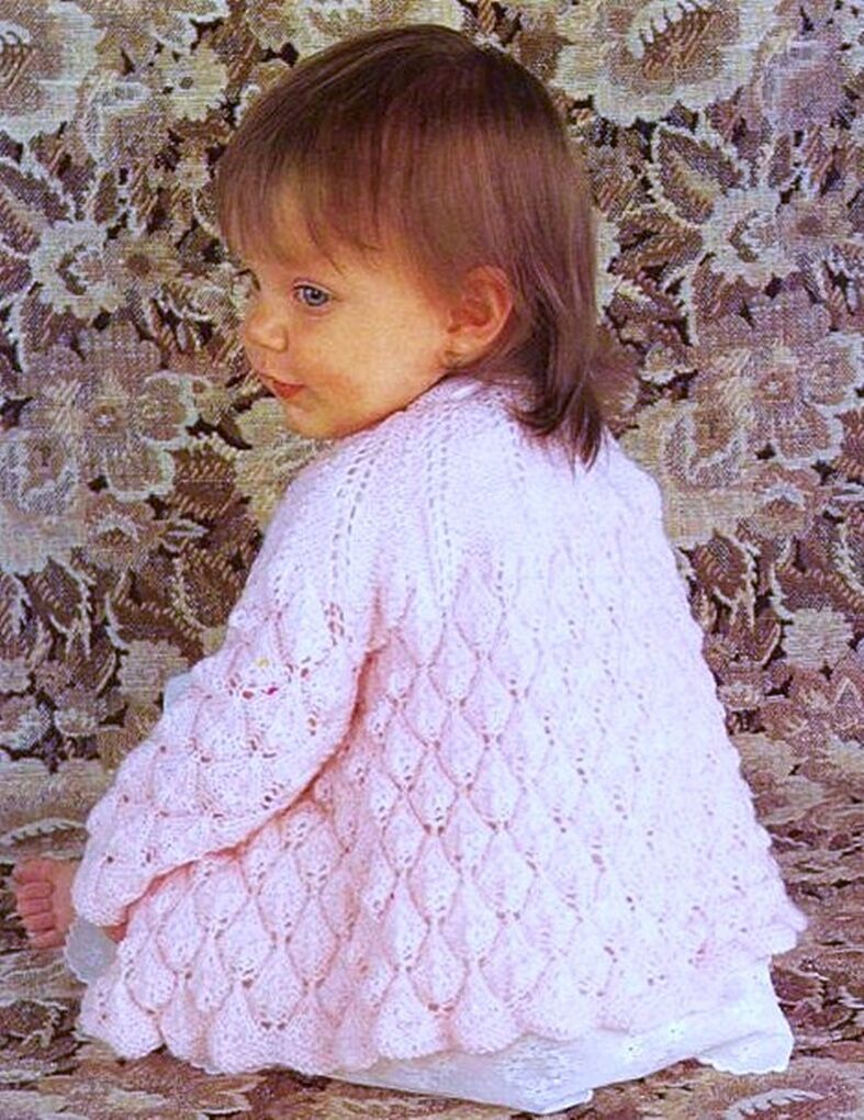 BABY KNITTING PATTERN 3 or 4 ply MATINEE COAT 2 SIZES   ?1.99 - PicClick UK