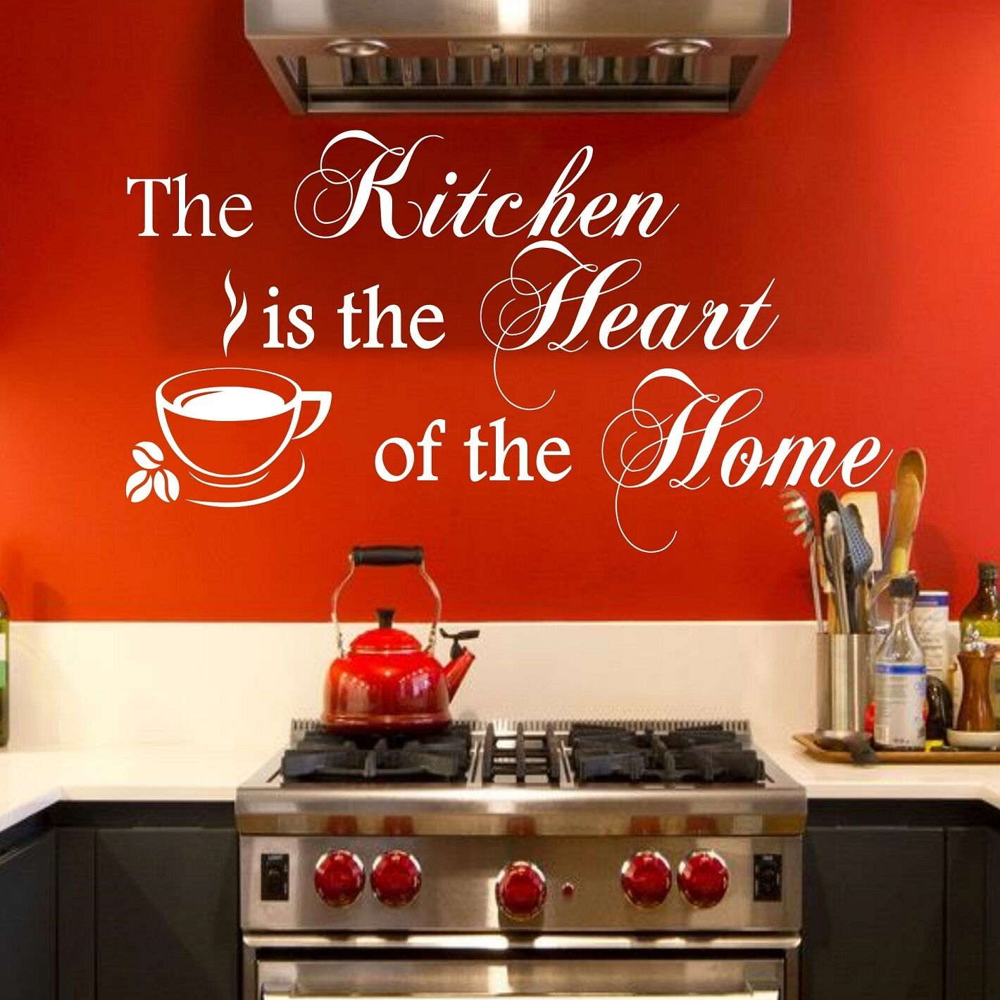 Wall Stickers Quotes The Kitchen Is The Heart Of The Home