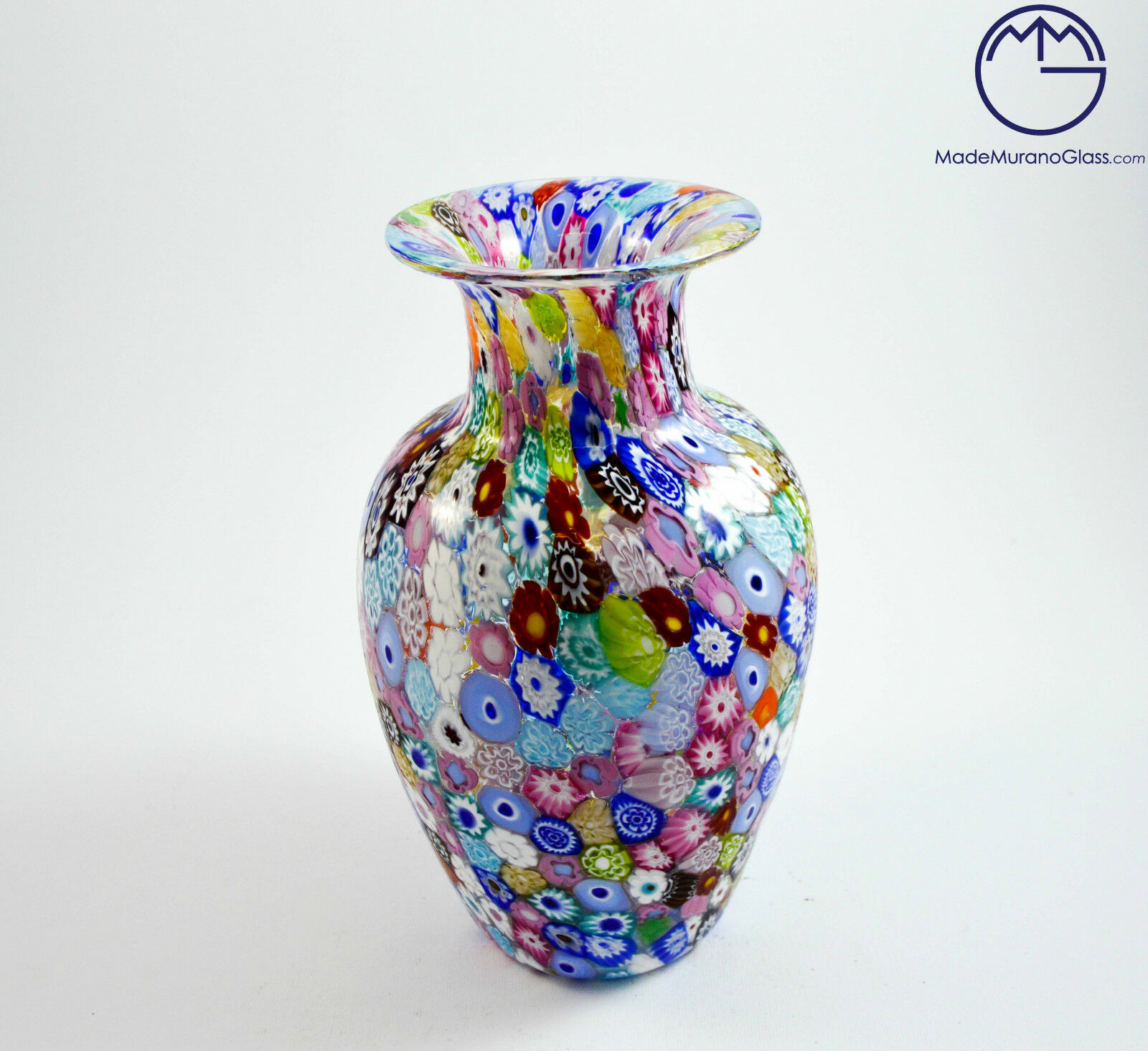 Vaso moderno in vetro di murano venetian glass vase with for Vaso di vetro