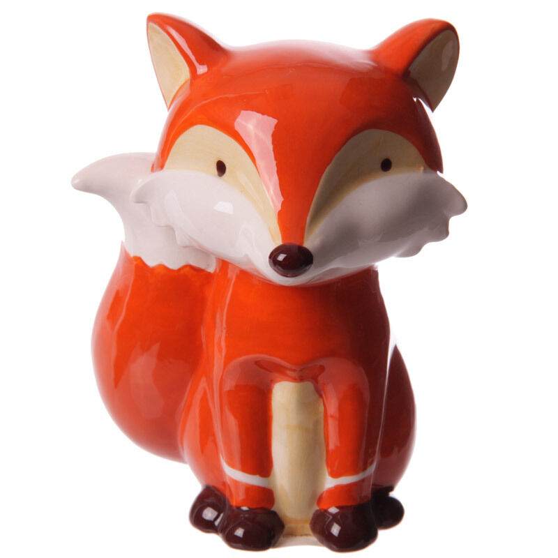 Fox Ceramic Money Box Present Animal Bank Pot Gift Ideas