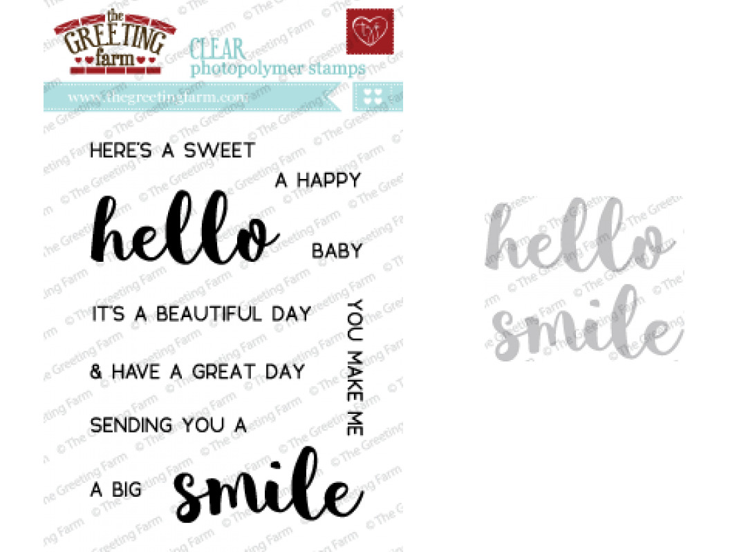 Hello Smile Clear Stampsdies Set The Greeting Farm Stamping Craft