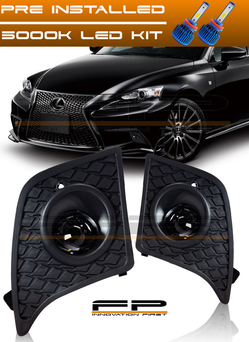 Led 2014 2016 Lexus Is250 Is350 F Sport Clear Fog Lights Full Kit Winjetr Wiring N Harness Switch 1 Of 5only 4 Available See More