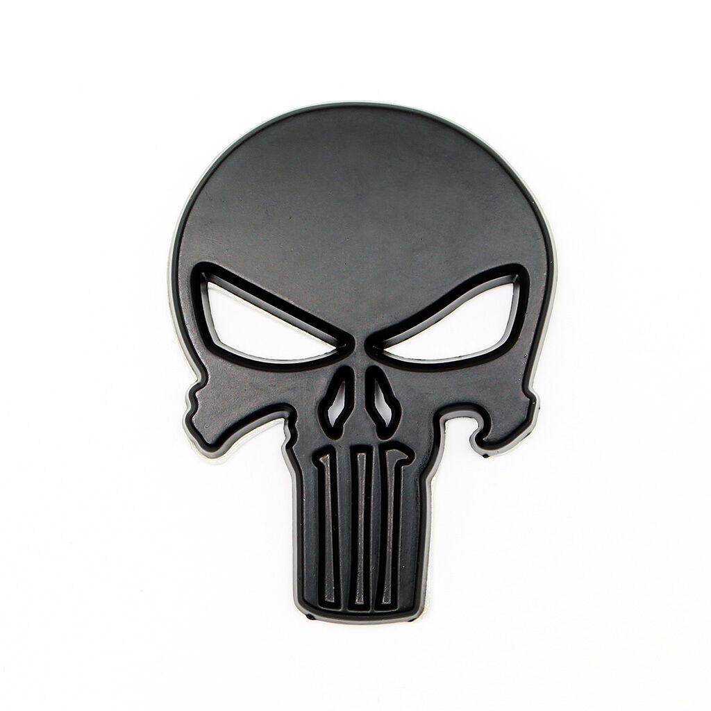 punisher aufkleber badge sticker auto motorrad emblem 3d metall schwarz eur 7 99 picclick de. Black Bedroom Furniture Sets. Home Design Ideas