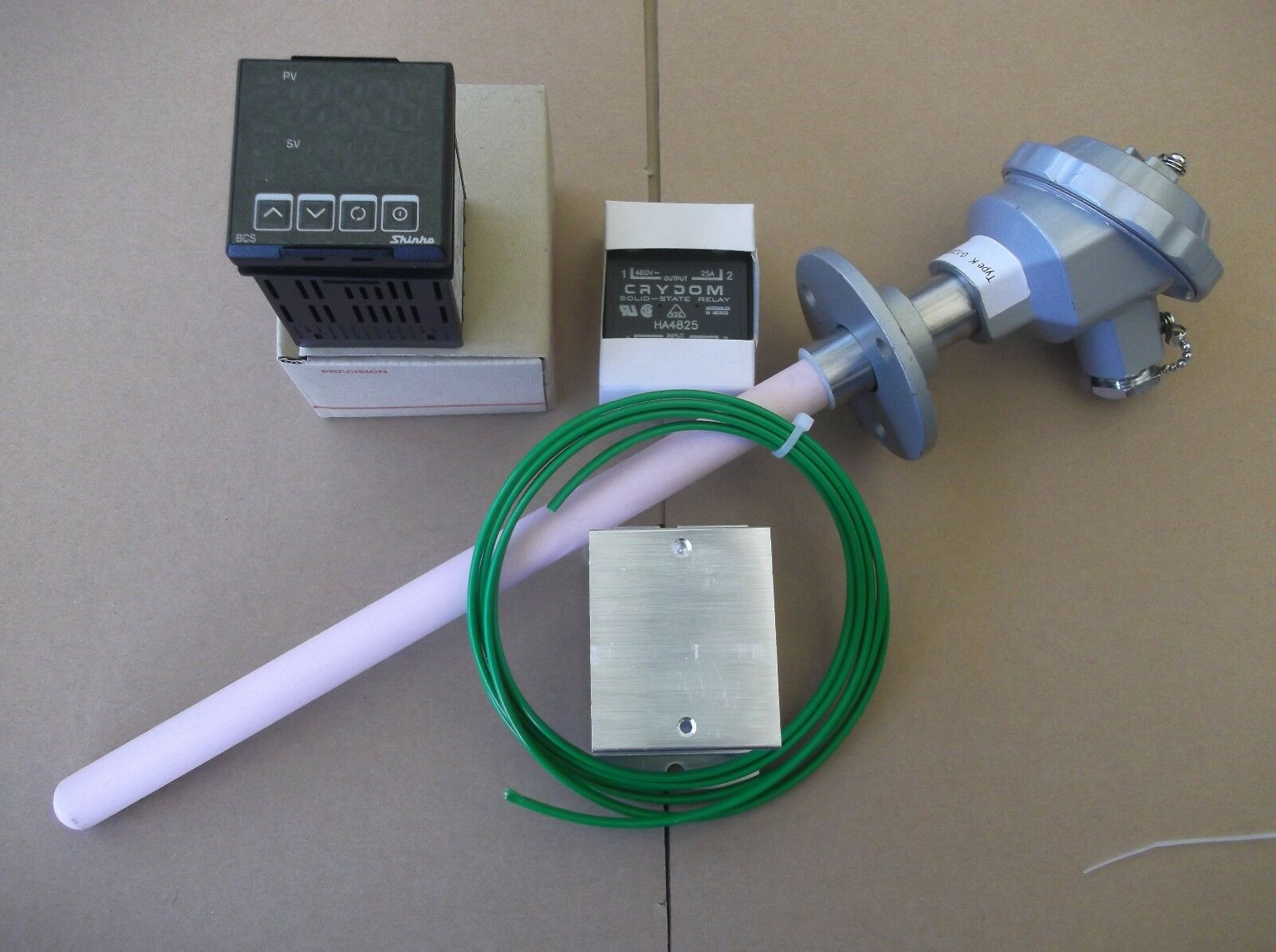 Ramp And Soak 9 Step Pid Controller K Type Thermocouple Crydom Ssr Wiring Diagram 1 Of 8only Available