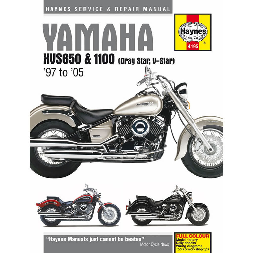Yamaha XVS650 XVS1100 Drag Star V-Star 1997-2011 Haynes Workshop Manual 1  of 1FREE Shipping See More