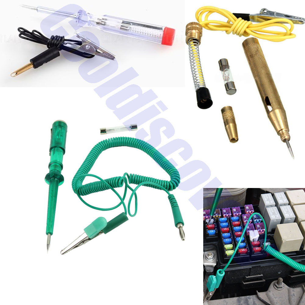 Auto Circuit Tester Test Pencil Light Led Probe Car Motorcycle Dc 6v Long Continuity Voltage 12v 24v 1 Of See More
