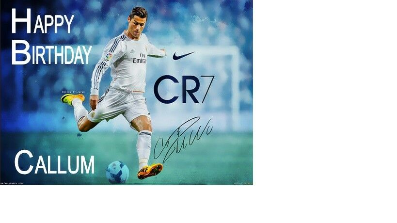 Personalised Cristiano Ronaldo A5 Birthday Card Any Name Age