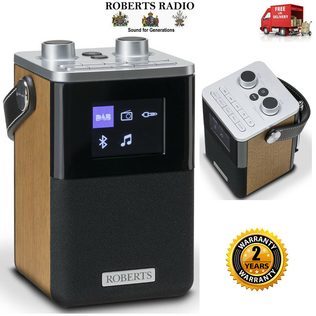 roberts blutune t2 dab dab fm portable digital alarm clock radio wood finish. Black Bedroom Furniture Sets. Home Design Ideas