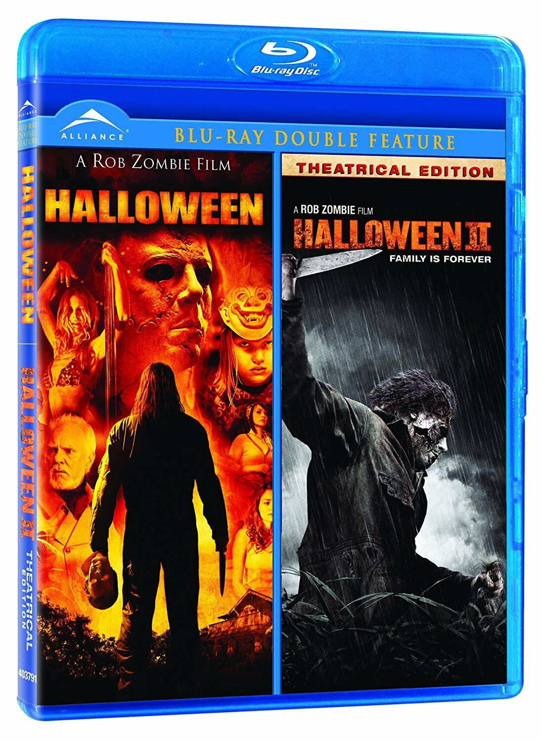 new - rob zombie's halloween / halloween 2 (double feature) [blu-ray