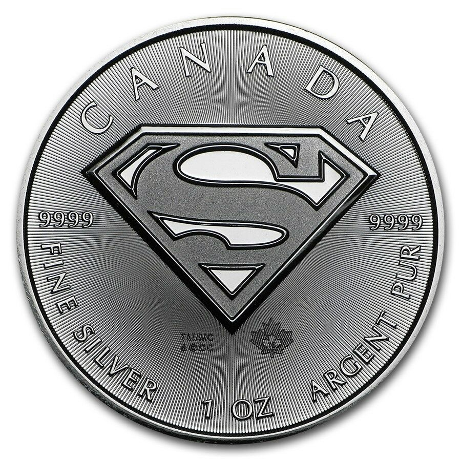 2016 1 Oz 9999 Siver Superman Shield Coin Royal