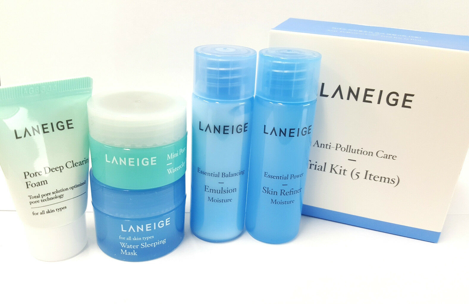 Laneige White Plus Renew Trial Kit 4 Items Anti Pollution Care 5items 25ml 10ml 1 Of 1free Shipping See More