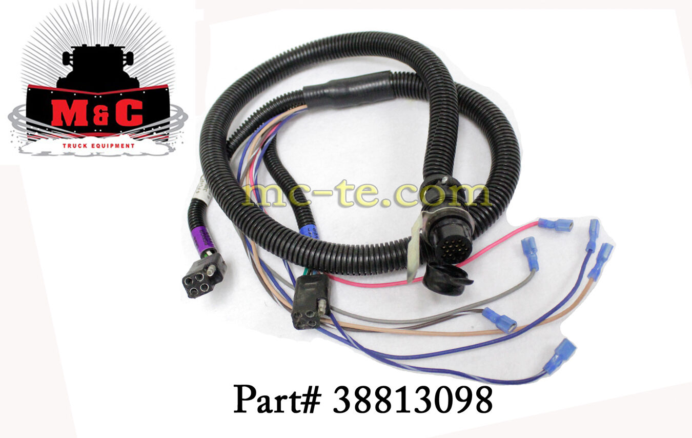 Hiniker Wiring Harness 6 Function House Diagram Symbols Plow 38813098 149 99 Picclick Rh Com Connector Plugs