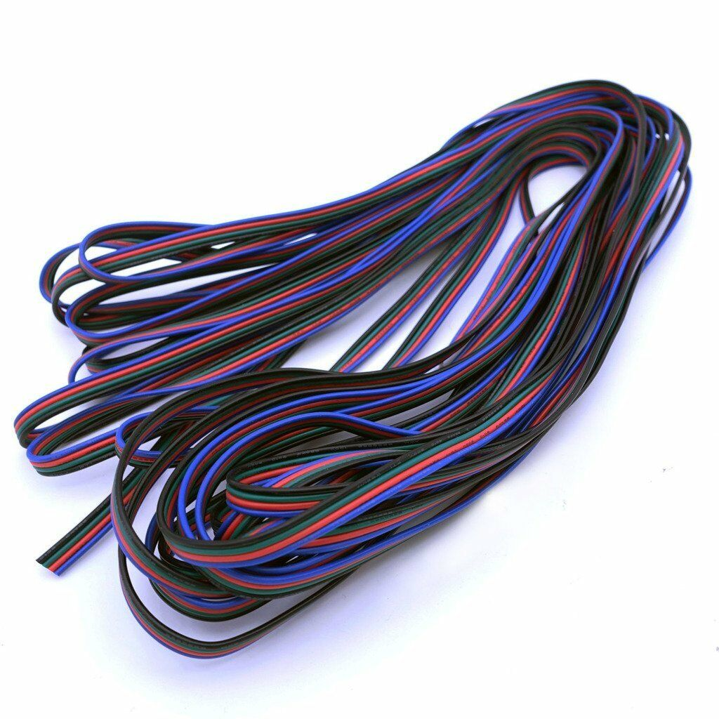 4 Pins Rgb Flexible Extension Cable Wire Cord 22awg For Led Strip Connector 3528 5050 Ebay Lot 1 Of 1free Shipping