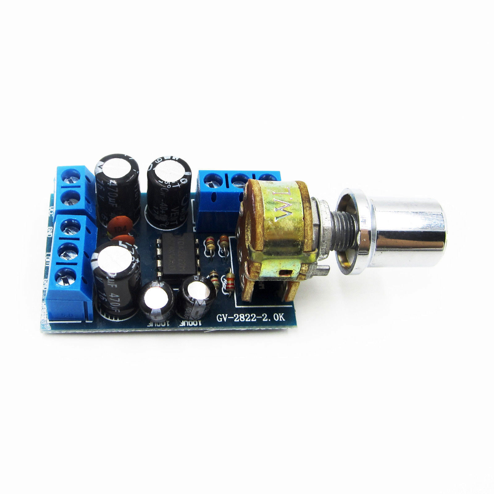 Tda2822m 1w2 Stereo Mini 20 Channel Audio Power Amplifier Board Dc Tda2822 Circuit 5v 12v Car 1 Of See More